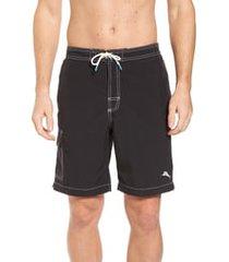 men's tommy bahama baja beach board shorts, size xx-large - black