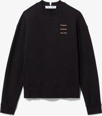 proenza schouler white label ps ny sweatshirt black/peach small ps ny l
