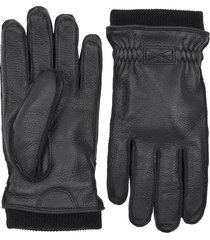 hestra malte insulated leather gloves, size large - black
