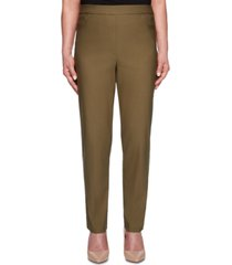 alfred dunner petite cedar canyon allure stretchy pull-on pants