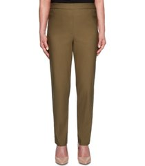 alfred dunner cedar canyon stretch straight-leg pull-on pants