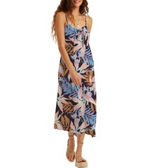 women's billabong twist it knot front midi dress