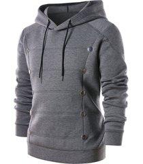 metal round embellished pullover hoodie