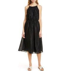women's frame hand smocked midi dress