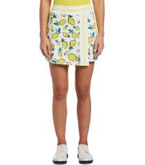 pga tour women's lemon-print golf skort