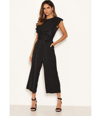 ax paris women's polka dot frill panel jumpsuit