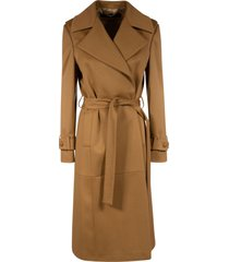 classic long belted coat