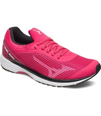 duel sonic w shoes sport shoes running shoes rosa mizuno