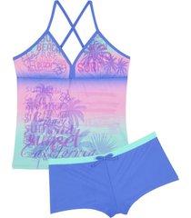 traje de baño violeta h2o wear