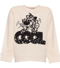 stella mccartney cool leopard terry print sweatshirt