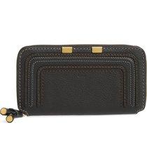 women's chloe 'marcie - long' zip around wallet - black