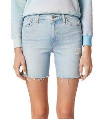 hudson women's hana mini denim biker shorts - devout - size 31