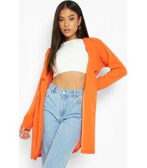 petite long line blazer, orange