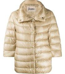 herno high neck puffer jacket - neutrals