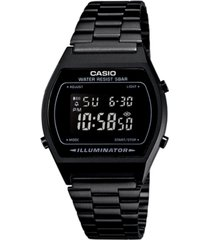 casio men's digital vintage black stainless steel bracelet watch 39x39mm b640wb-1bmv