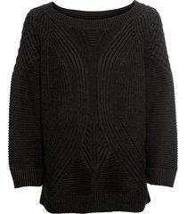 pullover traforato (nero) - bodyflirt
