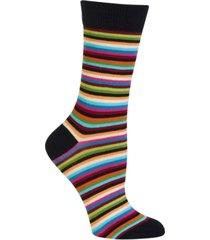 hot sox women's stripe trouser socks