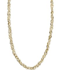 "italian gold necklace, 14k gold 18"" perfectina chain necklace (1-1/8mm)"