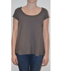 tiffany t-shirt med silkerygg, grå