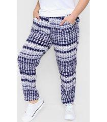 pantalón azul minari fibrana batik plus size