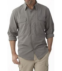 camisa expedition stretch gris royal robbins by doite