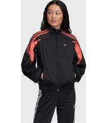 chaqueta adidas originals tracktop negro - calce regular