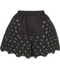 cecilie bahnsen ruffled shorts - black