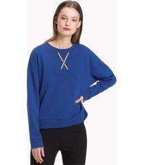 buzo azul tommy hilfiger louise sweatshirt ls