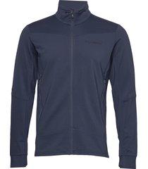 falketind warm1 stretch jacket m's sweat-shirt trui blauw norrøna