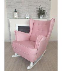 fotel bujany bella amore rita różowy welur