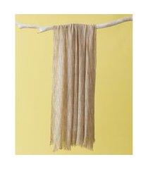 lenço em viscose - lenço village cor: bege - tamanho: único