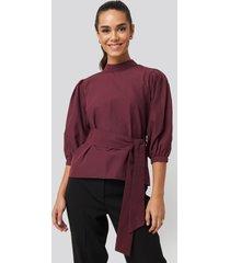 trendyol binding detailed blouse - red