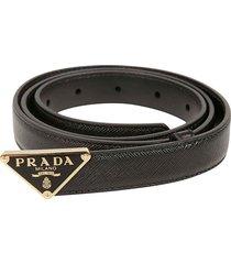 prada prada logo plaque belt