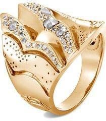 'lahar' diamond 18k gold ring