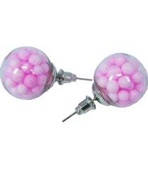aretes topo cristal rosados ar-10978