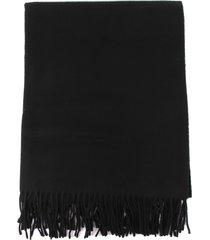 études virgin wool scarf with fringes