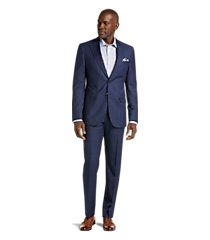 reserve collection slim fit windowpane plaid reda 1865 sustainawool men's suit - big & tall by jos. a. bank