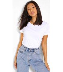 basic cotton crew neck t-shirt, white
