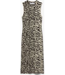 proenza schouler white label animal jacquard sleeveless dress ecru/black l