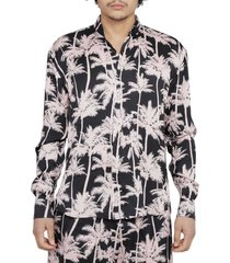 laneus black palme shirt