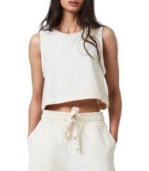 women's allsaints lila crop sleeveless sweatshirt, size 10 us - white