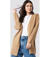 na-kd trend mohair blend cardigan - beige