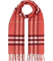 burberry classic check scarf - red