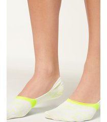 calzedonia invisible socks in faded pattern woman yellow size 40-41