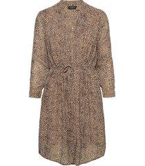 slfdamina-anni 7/8 dress ex jurk knielengte bruin selected femme