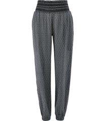 pantaloni alla turca in tessuto increspato (nero) - bpc bonprix collection