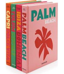 capri dolce vita, palm beach, tulum gypset, ibiza bohemia hardcover book set
