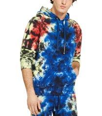 guess men's organic finch tie dye hoodie