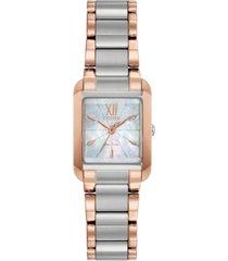 citizen eco-drive women's bianca two-tone stainless steel bracelet watch 22mm
