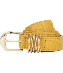 cinturon gema amarillo carven